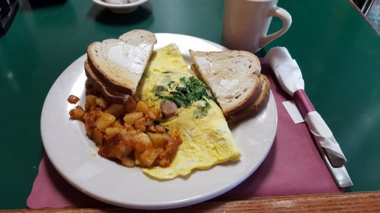 Enfield, CT: Broccoli Rabe & Italian Sausage Omelette