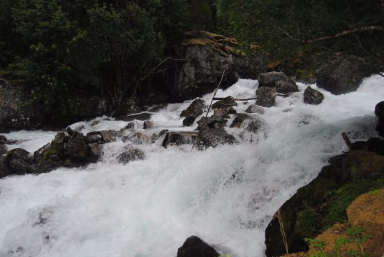 Skjolden, Norway: The mighty rapids along the river's course