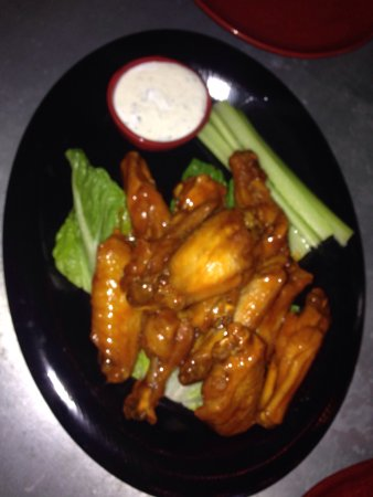 Emmaus, PA: Wings were excellent with a yogurt blue cheese sauce.
