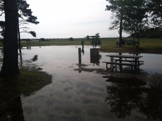 Monroe, Βιρτζίνια: Our flooded campsite - North Carolina.
