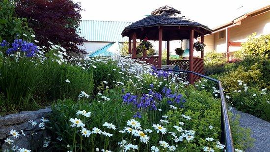 Gibsons, Canada: garden and gazebo