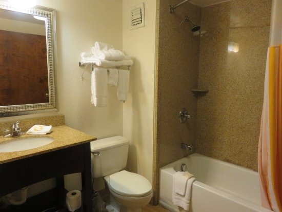 Acworth, Джорджия: Full size tub/shower and roomy bathroom