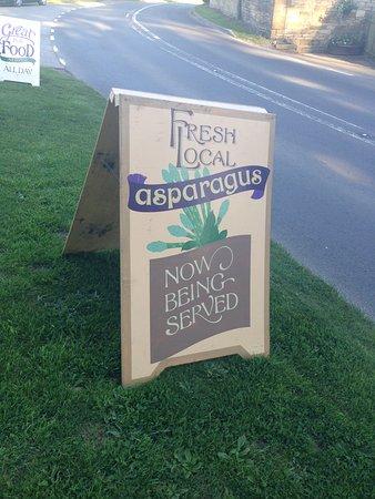 Temple Guiting, UK: Asparagus in season!