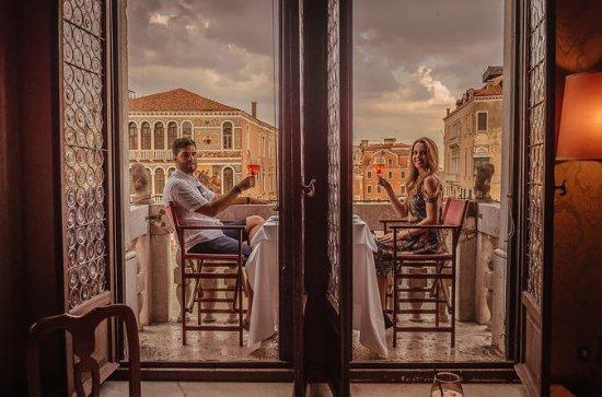 ゴンドラとヴェネツィア パレスでのガラ ディナー