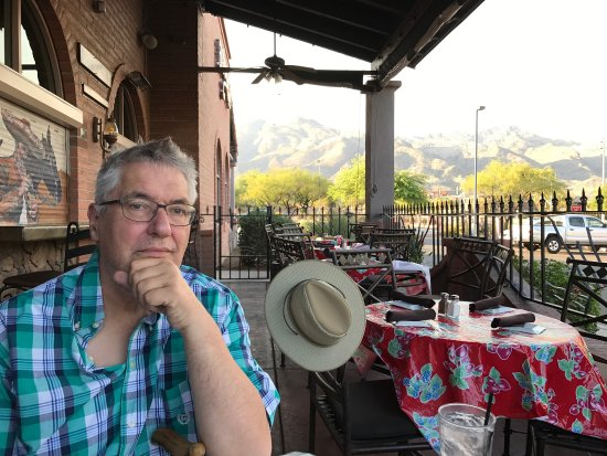 El Charro Cafe - Ventana: A view of the Catilana Mountains from the patio.