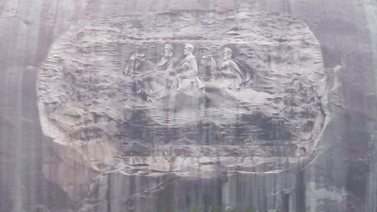 Stone Mountain Carving: Closeup view of carving