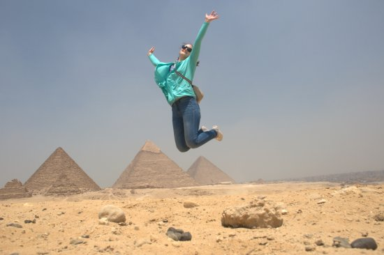 Real Egypt Day Tours: Jumping for joy