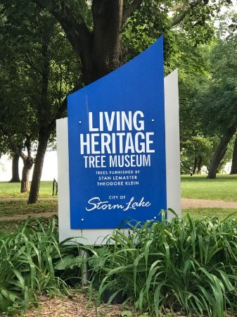 Storm Lake, IA: Living Heritage Tree Museum entrance sign