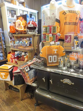 Kimball, TN: Tennessee Volunteers memorabilia for sale in the country store