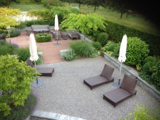 Lipperswil, Suiza: Coin détente pour profiter du soleil