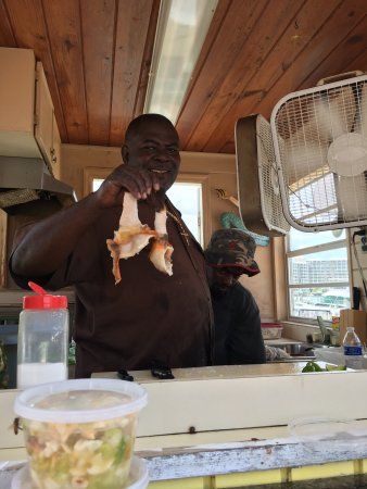 Da Conch Man: Daddy Browns conch stand in port Lucaya is world class! He and his partner Pedro have got this d