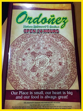 Montebello, Californië: Ordonez Mexican Restaurant