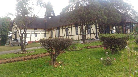 Beautiful manicured lawns outside All Saints Church