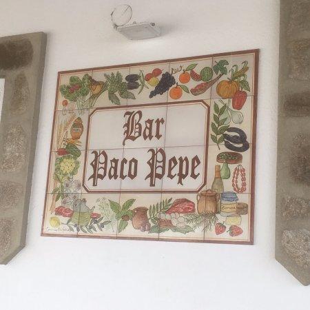 Gaucin, Spanien: Bar Paco Pepe Entry