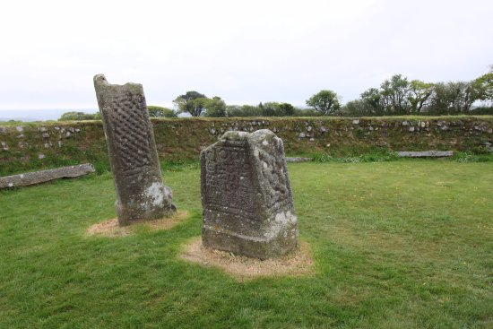 St Cleer, UK: The stones for King Doniert in a back garden sized plot