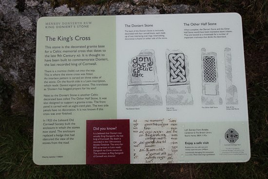 St Cleer, UK: Information board