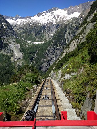 Innertkirchen, Ελβετία: Gelnerbahnfahrt unterwegs