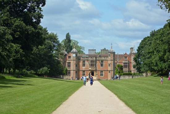 Charlecote Park: The impressive approach to Charlecote