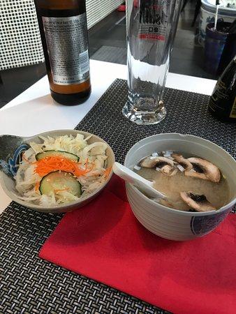 Yumiko: soup and salad