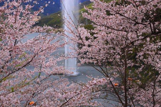 Mizukami-mura, Ιαπωνία: 駐車場からの眺め