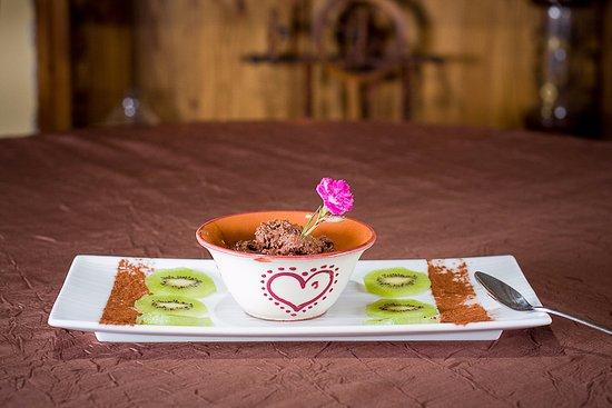 Areches, Frankrig: Mousse au chocolat