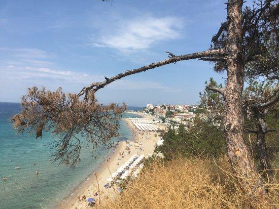 Aegean Blue Hotel: Strand von oben!