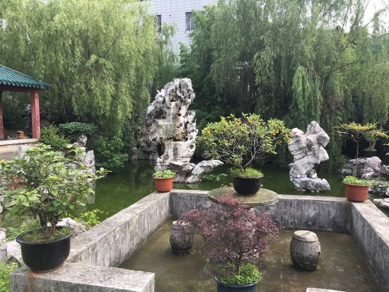 Taihu Valley Hotel : You see the garden, the view up the hill to the villa you don't get and the suite as well as the