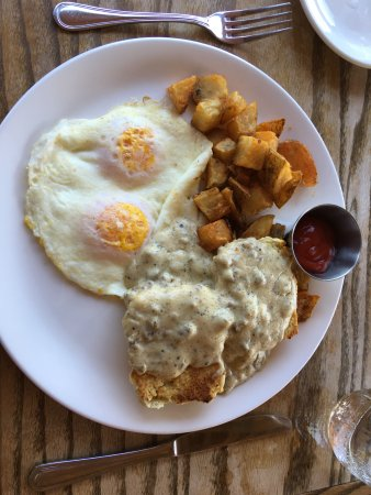Honey Brook, PA: biscuits with gravy, eggs, and home fries