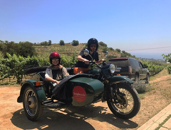 BrightSide: Wine tasting and side cars!!