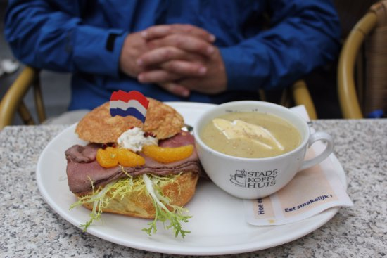 Stads-koffyhuis: One of the many delicious sandwiches at the restaurant.