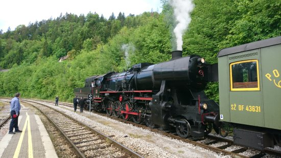 Jesenice, Slovenia: a steam train