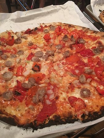 Danbury, CT: Sausage, roasted peppers and onions