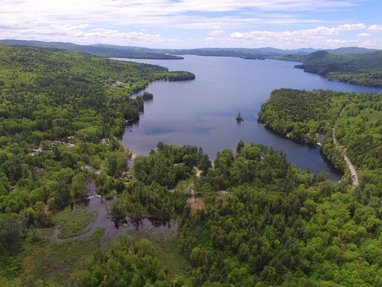 Hebron, NH: Newfound Lake pic taken by drone at Coppertoppe