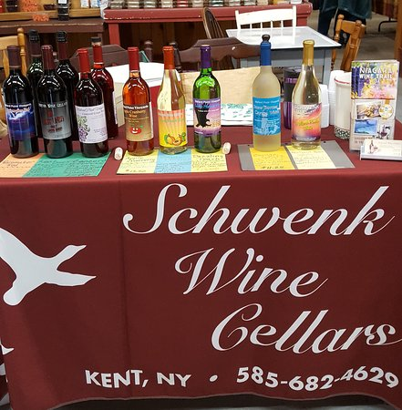 Kent, NY: Some of the wines.