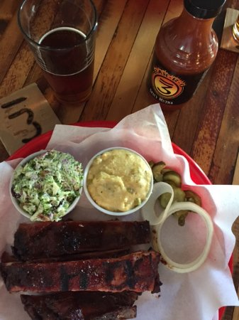 Belgrade, MT: Ribs, Grits, Broccoli Salad, and Beer, of Course!