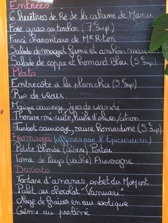 Marans, Francia: La carte