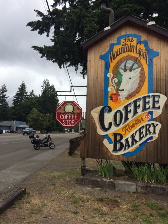 Packwood, WA: On the main drag through town. You can't miss the sign.