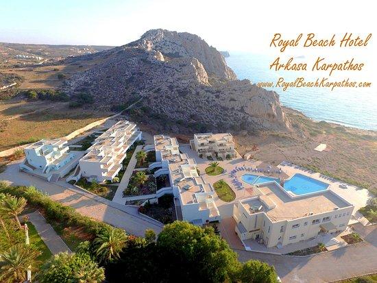 Arkassa, Griekenland: Royal Beach Hotel From Above