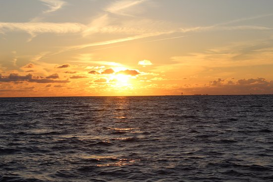 Palmetto, Floryda: Gulf sunset from Riverboat