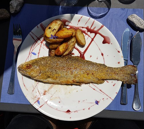 Gerra, Svizzera: wunderbares Mittagessen im Grotto