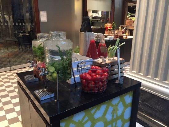 Radisson Blu Plaza Hotel, Helsinki: Breakfast buffet virgin drinks