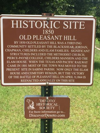 Mansfield, LA: Pleasant Hill Battle Park marker