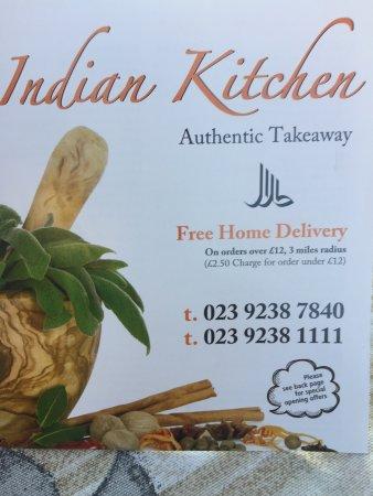 Cosham, UK: Indian kitchen