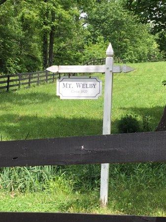 Linden, VA: Sign at entrance