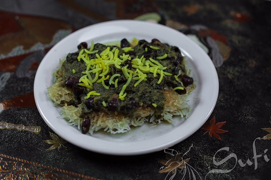 Rice Crust with herbs and Red kidney beans