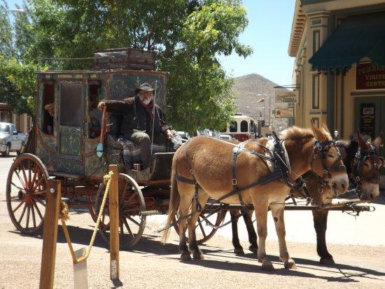 Allen Street : Mule-drawn stagecoach