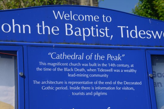 Tideswell, UK: Details in the sign
