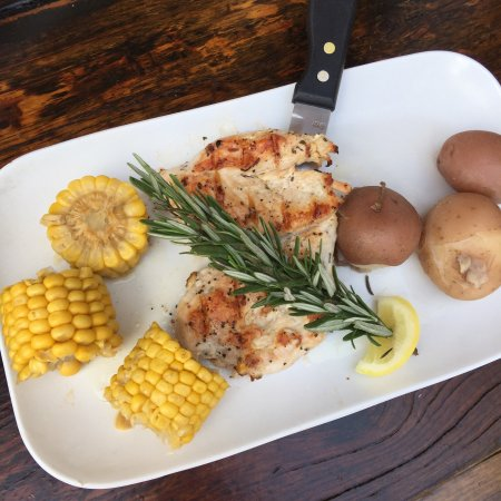 Seabrook, TX: Grilled Chicken with Corn and Red Potatoes $11.75 June 2017