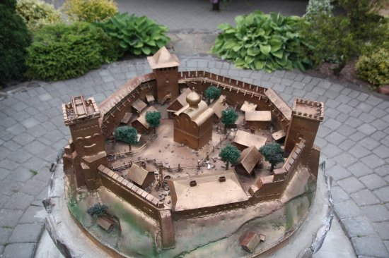 Lutsk, Ucraina: Makieta zamku