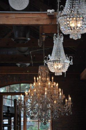 Canoe Brewpub: chandeliers